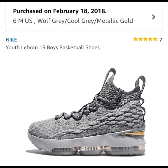timeless design 90db0 d3d2a LeBron 15 basketball sneaker - lightly worn 1x.